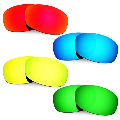 Hkuco Mens Replacement Lenses For Costa Brine Sunglasses Red/Blue/24K Gold/Emerald Green
