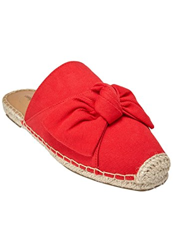 Comfortview Womens Wide Adri Mules Hot Red