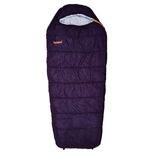 Eureka! Lone Pine Women's 30-Degree Semi-Rectangular Mummy Sleeping Bag, Three-Season, Dark Purple
