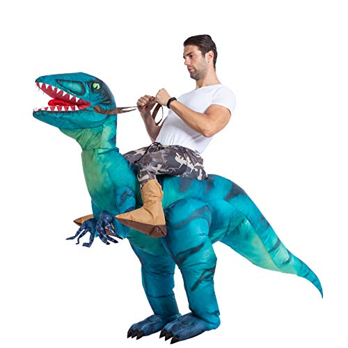 Creative Costumes For Guys - Spooktacular Creations Inflatable Raptor Riding a