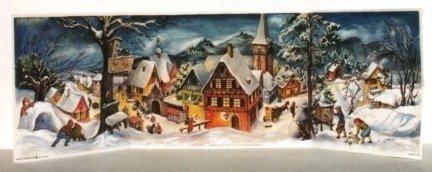 (Panoramic Village German Christmas Advent Calendar)