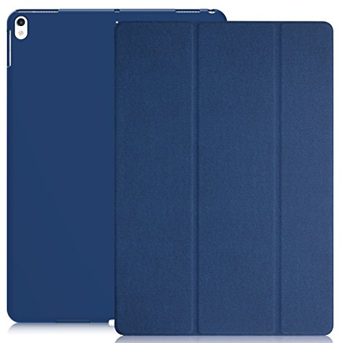 KHOMO iPad Pro 10.5 Inch Case - Dual Twill Blue Super Slim Cover with Rubberized Back and Smart Feature (Built-in Magnet for Sleep/Wake Feature)