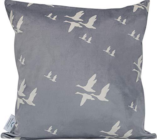 Urban Loft by Westex Flying Birds Feather Filled Decorative Throw Cushion, 20 x 20 x 4 , Grey