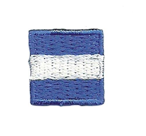 2pcs International Maritime Nautical Signal Flag J Juliet Embroidery Patch (Flag Signal Hook)