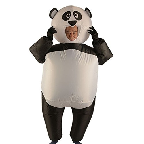 WHYQZ Inflatable Adult Suits Blow up Full Body Panda Inflatable Costume Christmas Party Cosplay Costume -