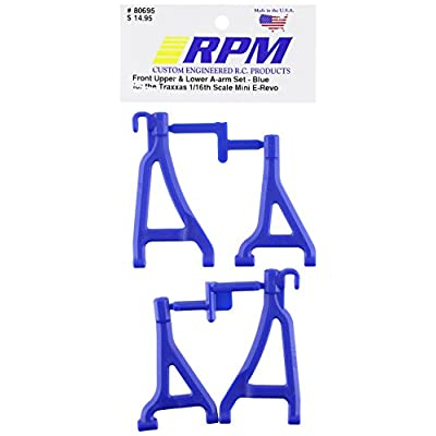 RPM 80695 Front Upper/Lower A-Arms Blue 1/16 E-Revo Blue: Toys & Games