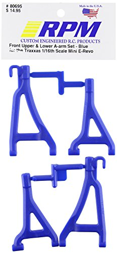 RPM 80695 Front Upper/Lower A-Arms Blue 1/16 E-Revo for sale  Delivered anywhere in Canada