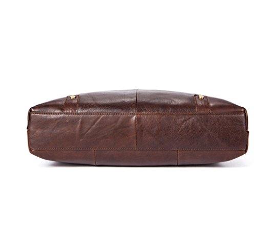 Pelle Messenger viaggio 39x5x26cm Tracolla Sucastle 1 A D'affari Uomo In Tipo Spalla Bag Borsa università Vintage zwxC0FxqS