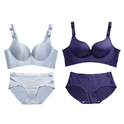 Unterwäsche Zwei Sets von Damenunterwäsche Nahtlose einteilige Zeichnung, um die Art anzupassen Komfortable Frauen BH-Set (2 2 (16 Farben optional) (Größe optional) (Farbe : 13#, größe : 38A=85A)