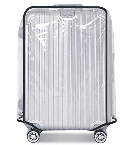 Luggage Cover, Clear PVC Luggage Suitcase Cover Travel Luggage Protector (Transparent, 30 inch)