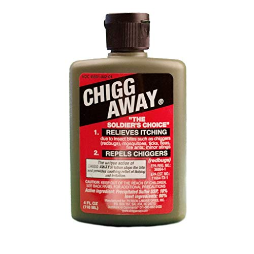 Chigg-Away The Soldier's Choice Relieves Itching and Repels Chiggers, 4 fl oz (Pack of 2)
