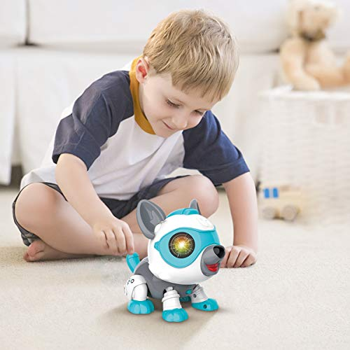 FoMass Toys for 3-5 Year Old Kids, Robot Dog Gifts for Boys Girls Interactive Puppy Voice Control Robot Pet Toy