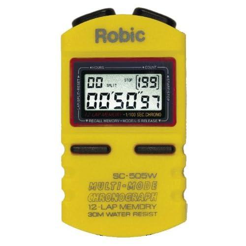 Chronomètre de mémoire de Robic SC-505W 12 (jaune) [sports]