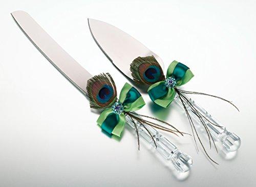 Lillian Rose K234 Peacock Knife and Server Set