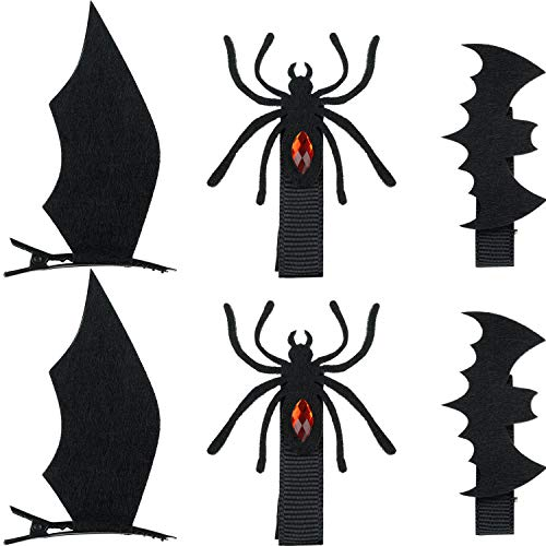 Funny Halloween Cartoon Clips (WILLBOND 18 Pieces Halloween Cartoon Hair Clips Include Bat Wings Shape Hair Clips Devil Pattern Hair Pins Spider Hair Accessories for Halloween Cosplay)