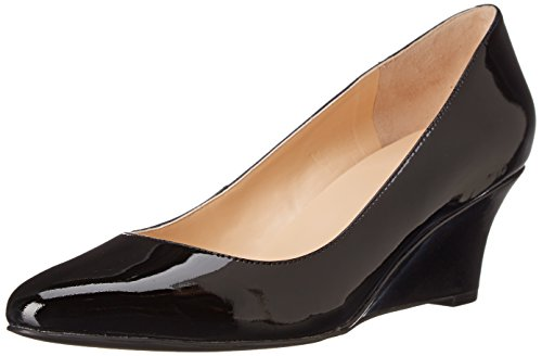 Cole Haan Women's Catalina Wedge Pump, Black Patent, 6.5 B US (Black Patent Leather Wedges)