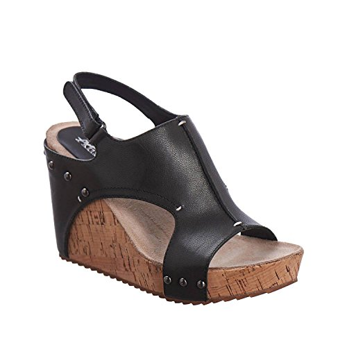 Sandal Wedge Womens Antelope 724 Antelope Womens Black qa1X0