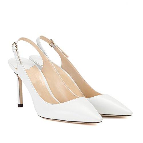 Dietro Donna Bianco Cinturino La Eks Caviglia UZ6qA