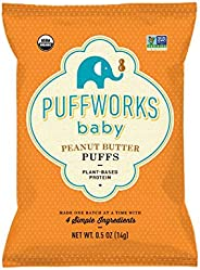 Puffworks Baby Organic Peanut Butter Puffs, Pack of 12