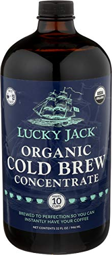 Lucky Jack, Coffee Cold Brew Concentrate Organic, 32 Fl Oz