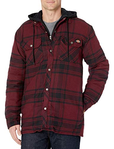 Dickies mens Relaxed Fit Hooded Duck Quilted Shirt Jacket Big