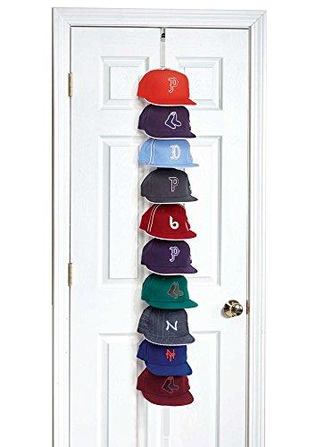- Hat Racks -  Storage 10 Hats Multicolor Metal Hook Over Door Storage Cap Rack (White) ()