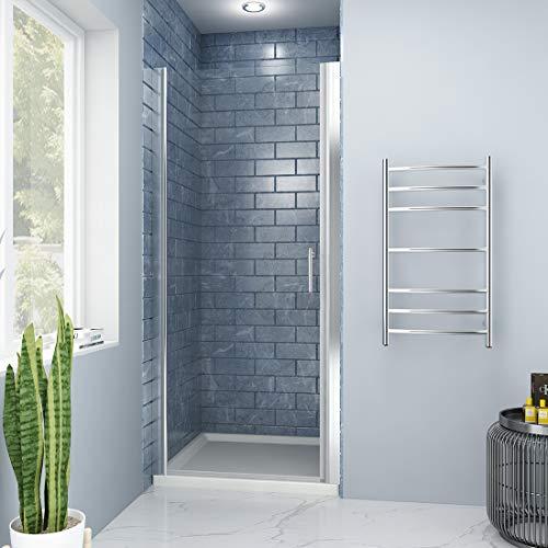 SUNNY SHOWER FP 36 Pivot Swing Shower Door, Clear Glass, Chrome Finish, 36