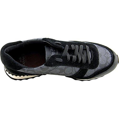 Shoe 5 Black Grey C Suede 6 Sneaker Moonlight Size Coach Canvas Signature Smoke wqzZ7TxT