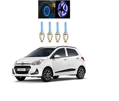 Glito Blue Motion Sensor Tyre led Wheel Lighting Set of 4 Hyundai Grand i10