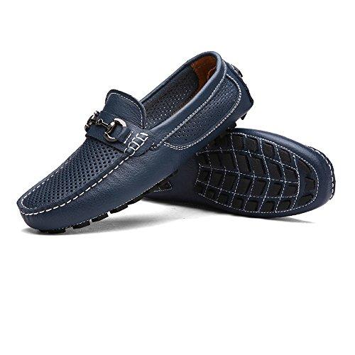 da guida shoes sole Color Mocassini da uomo Boat Morbidi da Shoes EU Mocassini traspiranti uomo Penny Dimensione Mocassini Militare Vamp Marina 39 Hongjun 2018 Hollow Marina Militare d6tqA6