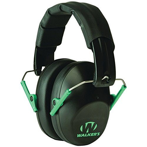 Walkers Game Ear GWP-FPM1-BKTL PRO Low-Profile Folding Muff (Black/Teal)