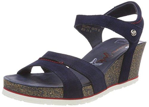 Panama Jack Women's Valery Navy Open Toe Sandals Blue (Marino B1) Os9UU