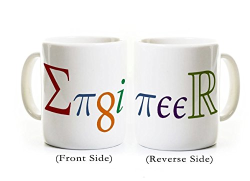 Engineer Coffee Mug -Engineer spelled with mathematical symbols/constants -Gift for Graduate