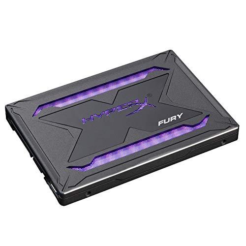 HyperX Fury RGB SSD 960GB SATA 3 2.5 Inches Solid State Drive Black Case with Multi-Color RGB SHFR200/960G