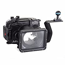 EACHSHOT 40m/130ft Underwater Diving Camera Housing for Fujifilm X-A1 (16-50mm ) + Aluminium Diving handle