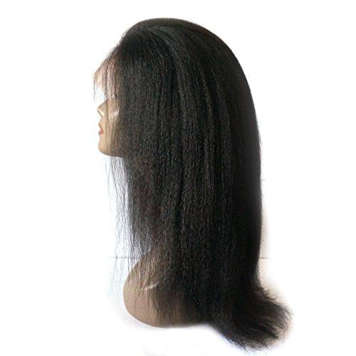 Enoya Hair Best Italian Yaki 360 Lace Frontal Wig Pre Plucked Brazilian Remy Lace Human Hair Wigs for Black Women 180 Density (20'') by Enoya (Image #2)