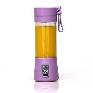 ์์Nut Shop 380ml USB Electric Fruit Juicer Handheld Smoothie Maker Blender Bottle Juice Cup (purple)