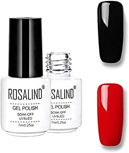 Hands & Feet Care Rosalind Gel Polish Set UV Semi Permanent Primer Top Coat Poly Gel Varnish Nail Art Manicure Gel, Capacity: 7ml 2pcs 36 Nail Art Equipment