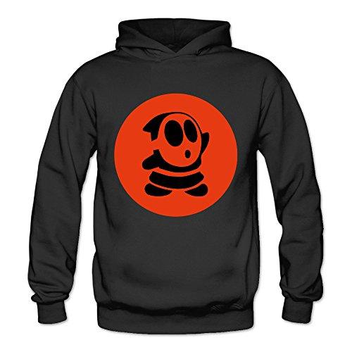 MSKOOK Women's Super Mario Shy Guy Hooded Sweatshirt Black ()