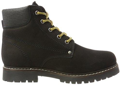 Boot Stivali Worker Donna 10 Black BIANCO Chukka Nero Warm ECqxx4f