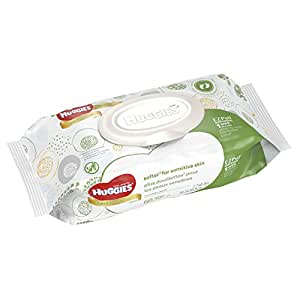 HUGGIES Natural Care Baby Wipes, Disposable Soft Pack (56 Sheets Total), Fragrance-free, Alcohol-free, Hypoallergenic, Pack of 8