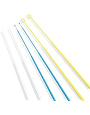 Scientific Labwares Disposable Inoculating Loops and Needles, 10.0 Micro liters, Non-Sterile, Polystyrene, Blue (Pack of 20)