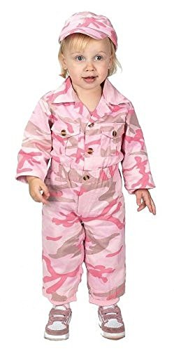 [Aeromax Jr. Camouflage Suit with Cap, Size 18Month, Pink] (Marionette Girl Costume)