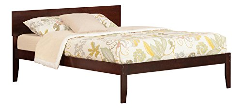 Atlantic Furniture AR8141004 Orlando Platform Bed with Open Foot Board, Queen, Walnut ()