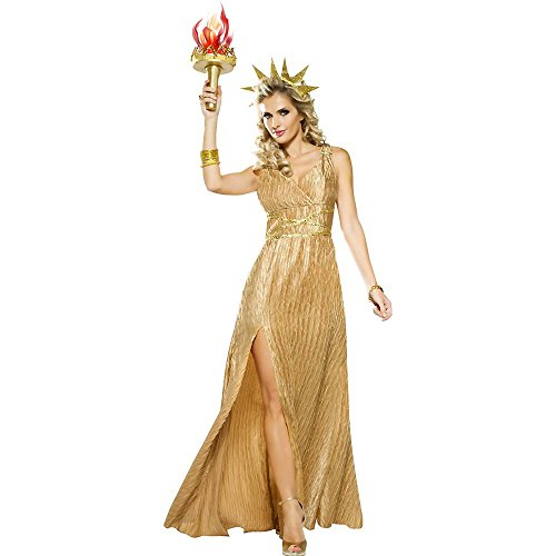 Golden Liberty Costume - Small - Dress
