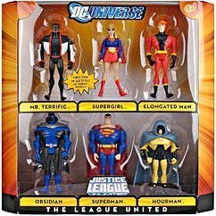 (DC Universe Justice League Unlimited Exclusive Action Figure 6-Pack The League United (Superman, Supergirl, Mr. Terrific, Elongated Man, Obsidian and Hourman))