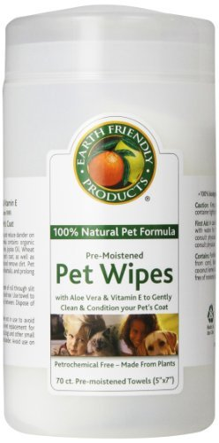 Natural Pet Pre-moistened Pet Wipes, 70-Count Containers by Natural Pet