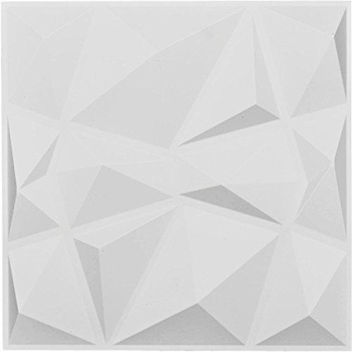 Ekena Millwork WP20X20NIWH 19 5/8''W x 19 5/8''H Niobe EnduraWall Decorative 3D Wall Panel, White by Ekena Millwork