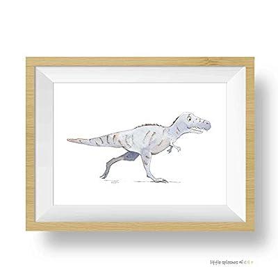 Dinosaur Wall Art, Tyrannosaurus Rex Art Print, Toddler Room Decor Boy: Handmade