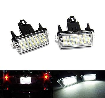 2 luces LED para matrícula, color blanco, Canbus para Avensis Verso S Yaris Vitz Auris Touring Sports: Amazon.es: Coche y moto